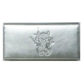 【大感謝価格 】三面大黒天 銀色の財布 長財布