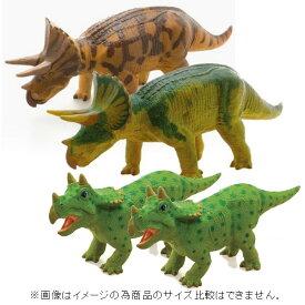 【物流倉庫出荷品・大感謝価格 】恐竜 トリケラトプス ビニールモデル 親子セット