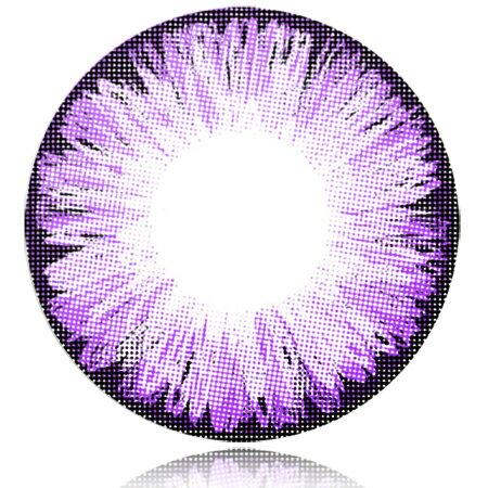 送料無料『1ヶ月 マンスリー Fresco(フレスコ)アイスバイオレット Violet Lens Ice 度なし 14.5mm 2枚セット』カラーコンタクトレンズ QuoRe 度なし カラコンFresco(フレスコ)アイスバイオレット Violet Lens Ice 度なし 14.5mm 2枚セット