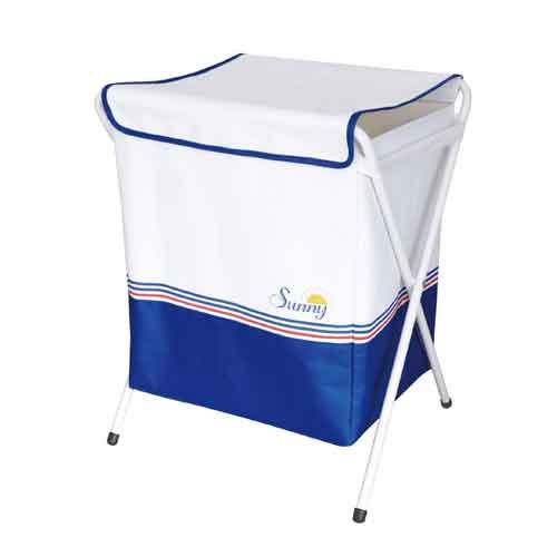 『SUNNY ランドリーボックス WHITE』(割引不可) 5940円税別以上送料無料お洗濯 洗濯物 カラフルな配色 折畳んでコンパクトに収納可能 SUNNY ランドリーボックス WHITE