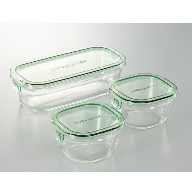 iwakiパック&レンジ角型3点セット 耐熱ガラス ipa-2201-036C-76【割引不可・取り寄せ品キャンセル返品不可】