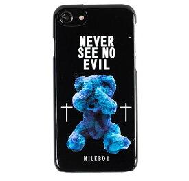 【ネコポスのみ】【大感謝価格 】AB-0883-IP67 iPhone8/7/6s/6対応 背面ケース MILKBOY ミルクボーイ×Gizmobies SEE NO EVILBEARS BK