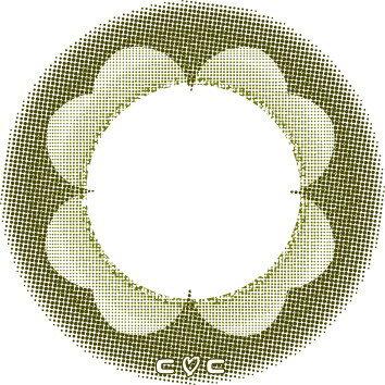 【ネコポス】【大感謝価格 】【高度管理医療機器】カラコン カラーコンタクト 2ウィークCCフルリール 2week CC Fieurir 四つ葉のクローバー 2週間 1箱6枚 度あり 度なし
