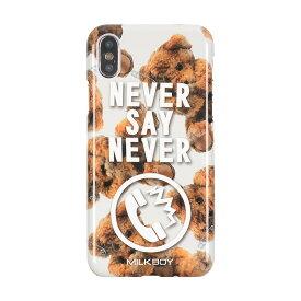 【あす楽対応】【ネコポスのみ】【大感謝価格 】AB-0881-IP0X iPhoneX対応 iPhoneケース MILKBOY ミルクボーイ ハードケース Gizmobies ギズモビーズ NEVERPHONEBEARS WH