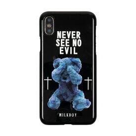 【ネコポスのみ】【大感謝価格 】AB-0883-IP0X iPhoneX対応 iPhoneケース MILKBOY ミルクボーイ ハードケース Gizmobies ギズモビーズ SEE NO EVILBEARS BK