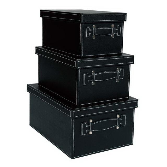 【大感謝価格】フェイクレザー ボックス BL L/M/S 3個セット L40013/M40014/S40015