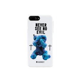 【大感謝価格 】AB-0884-IP7P iPhone8Plus/7Plus/6sPlus/6Plus対応 背面ケース MILKBOY ミルクボーイ×Gizmobies/SEE NO EVILBEARS WH