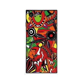 【大感謝価格 】BJ-0003-IP78-ORNG iPhone8/7対応 iPhoneケース RADIO EVA ラヂオエヴァ スクエア型 ガラスケース Gizmobies ギズモビーズ EVA02