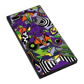 【大感謝価格 】BJ-0003-IP7P-PURP iPhone8Plus/7Plus対応 iPhoneケース RADIO EVA ラヂオエヴァ スクエア型 ガラスケース Gizmobies ギズモビーズ EVA01