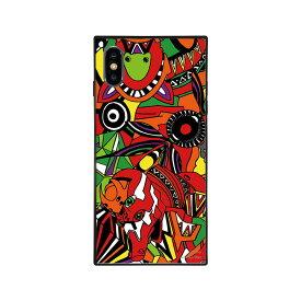 【大感謝価格 】BJ-0003-IP0X-ORNG iPhoneXS/X対応 iPhoneケース RADIO EVA ラヂオエヴァ スクエア型 ガラスケース Gizmobies ギズモビーズ EVA02