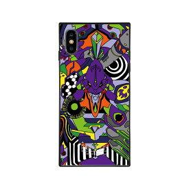 【大感謝価格 】BJ-0003-IPXM-PURP iPhoneXS Max対応 iPhoneケース RADIO EVA ラヂオエヴァ スクエア型 ガラスケース Gizmobies ギズモビーズ EVA01
