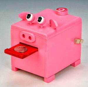 大感謝価格『加賀谷木材 パックンブタの貯金箱』