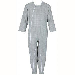 大感謝価格『介護つなぎ服(前開き) 403420 グリーン L』介護服 寝巻き 介護用パジャマ つなぎ 抗菌 消臭『介護つなぎ服(前開き) 403420 グリーン L』