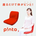 【送料無料】p!nto 正しい 姿勢 習慣 クッション ピント 【 座椅子 腰痛 クッション 疲労 骨盤矯正 姿勢矯正 猫背 椅…