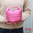 【メール便対応】【Ecorip】エコリップランチバッグ丸型 日本製【超軽量 撥水 コンパクト ダウンジャケット素材の新保…