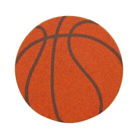 【メール便対応】コルクコースター(2色) 【バスケットボール】【ナチュラル感のあるコルクコースター 様々なデザインをプリントしました インテリアにも!!】 クリスマス プレゼント