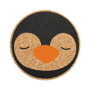 コースター コルク コルクコースター 北欧 【 コルクコースター2色 ペンギン 】 カフェ コーヒー レストラン 食器 グラス 開店祝い 北欧風 メール便 おしゃれ かわいい ギフト プレゼント 日
