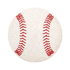【メール便対応】コルクコースター(2色) 【野球ボール】【ナチュラル感のあるコルクコースター 様々なデザインをプリントしました インテリアにも!!】 クリスマス プレゼント