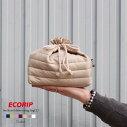 【メール便対応】【Ecorip】エコリップ保冷巾着袋(L)日本製【ダウンジャケット素材の新保冷バッグ!!保冷バッグ保温バッグ軽量ランチボックスエコきんちゃく弁当袋かわいいランチバッグ】