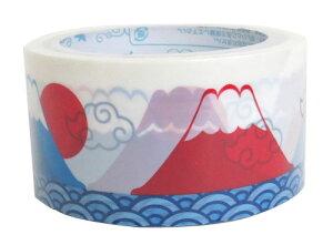 テープ 梱包テープ 梱包用 梱包 パッキング 【d-tape パッキングテープ 富士山 (幅48mm×長さ25m)】 デコレーション かわいい おしゃれ 48 台風 強度 デザイン パーティー 引っ越し DIY 模様替え 粘