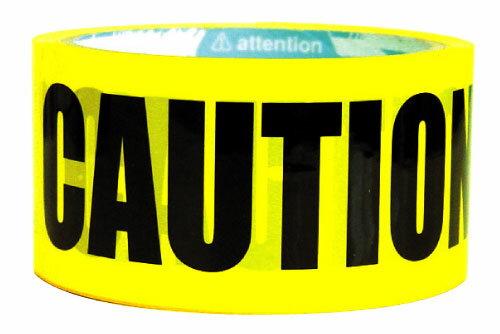 【d-tape】デザインパッキングテープ☆CAUTION☆ (幅48mm×長さ25m)【パッキング パッキングテープ イベント 注意 caution テープ 粘着テープ OPP フィルムテープ 梱包 梱包テープ halloween ハロウィン ハロウィーン】