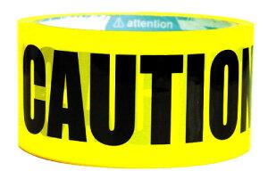 テープ 梱包テープ 梱包用 梱包 パッキング 【d-tape パッキングテープ CAUTION (幅48mm×長さ25m)】 デコレーション かわいい おしゃれ 48 台風 強度 デザイン パーティー 引っ越し コラージュ DIY 模