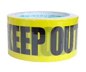 テープ 梱包テープ 梱包用 梱包 パッキング 【d-tape パッキングテープ KEEP OUT (幅48mm×長さ25m)】 デコレーション かわいい おしゃれ 48 台風 強度 デザイン パーティー 引っ越し DIY 模様替え 粘着 フィルムテープ ハロウィン ハロウィーン