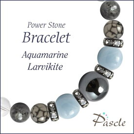 パワーストーン ブレスレット メンズ アクアマリン・ラルビカイト 天然石 誕生石 3月 家庭円満 結婚運 仕事運 誕生日 プレゼント