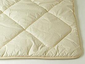 [キャメル敷ふとん]モンゴル産ラクダ毛100%ダブル 140x200cm 4.3kg入獣毛は蒸れず湿気ません繊維のゴミを特許装置で取り除いています生地色はアイボリー