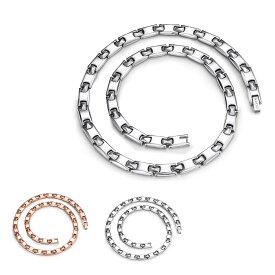 ゲルマニウム ネックレス メンズ レディース タングステン 磁気ネックレス チタン製 静電気除去 シルバー ローズゴールド