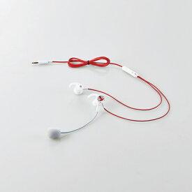 【店内全品100円オフクーポン】【即納】エレコム Lightning変換ケーブル付属 耳栓タイプ通話用ヘッドセット - HS-GS30ELWH HS-GS30ELWH
