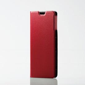 エレコム Xperia 5/ソフトレザーケース/薄型/磁石付/レッド PM-X5PLFURD