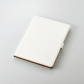 【即納】エレコム iPad 10.2 2019年モデル/フラップケース/ソフトレザー/360度回転/ホワイト TB-A19R360WH