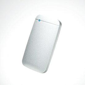 【即納】外付けSSD/ポータブル/USB3.2(Gen1)対応/TLC搭載/Type-C&Type-Aケーブル付属/500GB/シルバー[ESD-EF0500GSV]