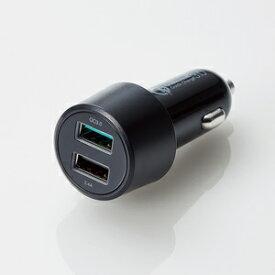 シガーチャージャー/2USBポート(自動識別)/QuickCharge3.0+USB1ポート(最大2.4A)/ブラック[MPA-CCUQ04BK]