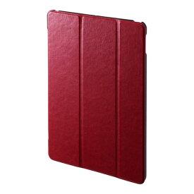【即納】サンワサプライ iPad 10.2インチ ソフトレザーケース レッド [PDA-IPAD1607R]