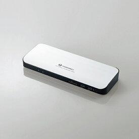 【即納】Type-Cドッキングステーション/PD対応/ThunderBolt3対応Type-C2ポート/USB(3.0)5ポート/HDMI1ポート/4極φ3.5端子/SDスロット/LANポート/ACアダプタ同梱/シルバー