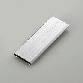 エレコム メモリカードケース/メモリークリップ/SD+microSD/アルミタイプ/スライドオープン式/クリップ付/Mサイズ/シルバー