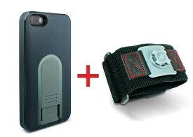 【即納】Intuitive Cube X-Guard iPhone SE/5/5s用ケース(ブラック)&スポーツアームバンド(L)セット [LG-MA03-0218_LG-XC02-0188L_SET]|| ハードケース カバー iPhone5 iPhone5s ランニング 黒 アイフォン5 おしゃれ 海外ブランド おもしろ 【newyear_d19】