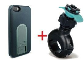【即納】Intuitive Cube Japan X-Guard iPhone SE/5/5s用ケース(ブラック)&ハンドルバーホルダープラスセット [LG-MA03-0218_LG-XC04-0189_SET]|| ハードケース カバー iPhone5 iPhone5s 自転車 バイク 黒 アイフォン5 おしゃれ 海外ブランド 【newyear_d19】