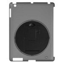 グリーンハウス iPad シェルカバー 回転スタンド付き ブラック GH-CA-IPADRK [GH-CA-IPADRK]