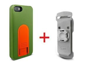 Intuitive Cube Japan X-Guard iPhone SE/5/5s用ケース(グリーン)&ベルトクリップセット [LG-MA03-0248_LG-XC01-0258_SET]|| ハードケース カバー iPhone5 iPhone5s緑 アイフォン5 おしゃれ 海外ブランド おもしろ 【new