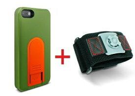 【即納】Intuitive Cube Japan X-Guard iPhone SE/5/5s用ケース(グリーン)&スポーツアームバンド(L)セット [LG-MA03-0248_LG-XC02-0188L_SET]|| ハードケース カバー iPhone5 iPhone5s ランニング 緑 アイフォン5 おしゃれ 海外ブランド 【newyear_d19】