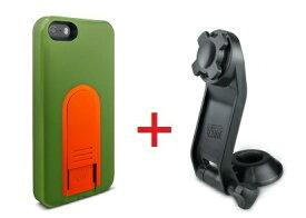 【即納】Intuitive Cube Japan X-Guard iPhone SE/5/5s用ケース(グリーン)&ステムホルダーセット [LG-MA03-0248_LG-XC03-0188_SET]|| ハードケース カバー iPhone5 iPhone5s バイク 自転車 緑 アイフォン5 おしゃれ 海外ブランド おもしろ 【newyear_d19】