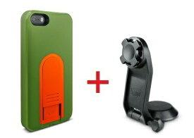 【即納】Intuitive Cube Japan X-Guard iPhone SE/5/5s用ケース(グリーン)&三脚ホルダーセット [LG-MA03-0248_LG-XC05-0188_SET]|| ハードケース カバー iPhone5 iPhone5s カメラ スマホ 固定 旅行 緑 アイフォン5 おしゃれ 海外ブランド 【newyear_d19】