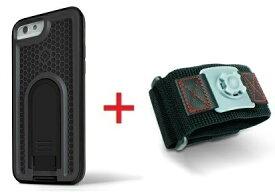 Intuitive Cube Japan X-Guard iPhone6/6s用ケース(ブラック)&スポーツアームバンド(S)セット [LG-MA08-3218_LG-XC02-0188S_SET]|| ハードケース カバー ランニング アイフォン6 黒 iPhone6s おしゃれ 海外ブランド おもしろ 【newyear_d19】
