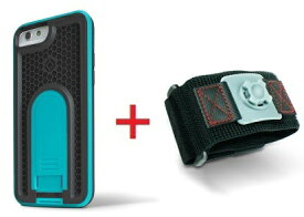 Intuitive Cube Japan X-Guard iPhone6/6s用ケース(ブルー)&スポーツアームバンド(S)セット [LG-MA08-3208_LG-XC02-0188S_SET]|| ハードケース カバー ランニング アイフォン6 青 iPhone6s おしゃれ 海外ブランド おもしろ 【newyear_d19】