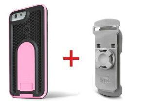 Intuitive Cube Japan X-Guard iPhone6/6s用ケース(ピンク)&ベルトクリップセット [LG-MA08-3128_LG-XC01-0258_SET]|| ハードケース カバーアイフォン6 桃 iPhone6s おしゃれ 海外ブランド おもしろ 【newyear_d19】