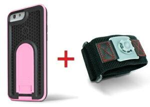 Intuitive Cube Japan X-Guard iPhone6/6s用ケース(ピンク)&スポーツアームバンド(L)セット [LG-MA08-3128_LG-XC02-0188L_SET]|| ハードケース カバー ランニング アイフォン6 桃 iPhone6s おしゃれ 海外ブランド