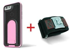 Intuitive Cube Japan X-Guard iPhone6/6s用ケース(ピンク)&スポーツアームバンド(S)セット [LG-MA08-3128_LG-XC02-0188S_SET]|| ハードケース カバー ランニング アイフォン6 桃 iPhone6s おしゃれ 海外ブランド おもしろ 【newyear_d19】